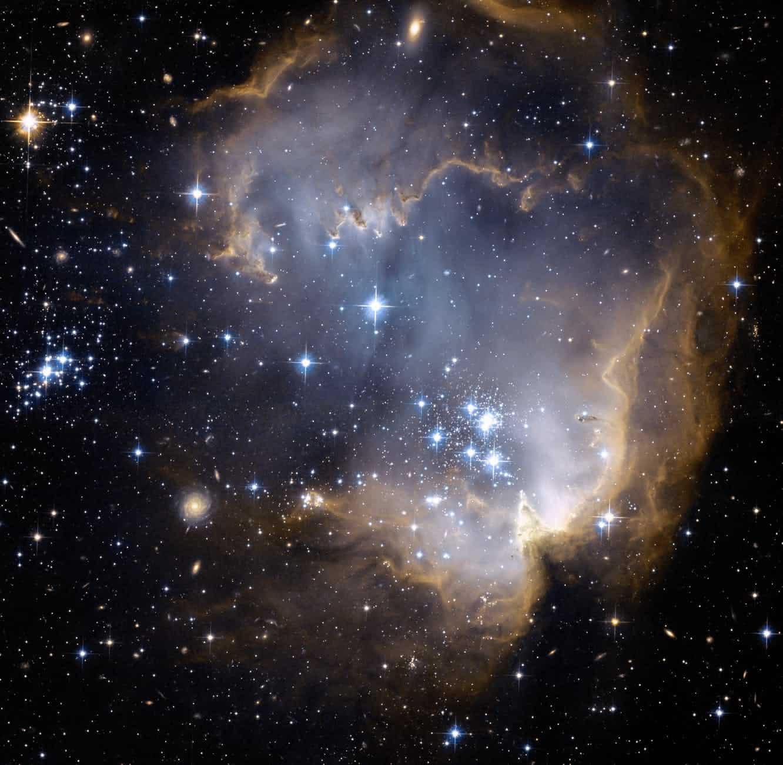 digital image of blue nebula