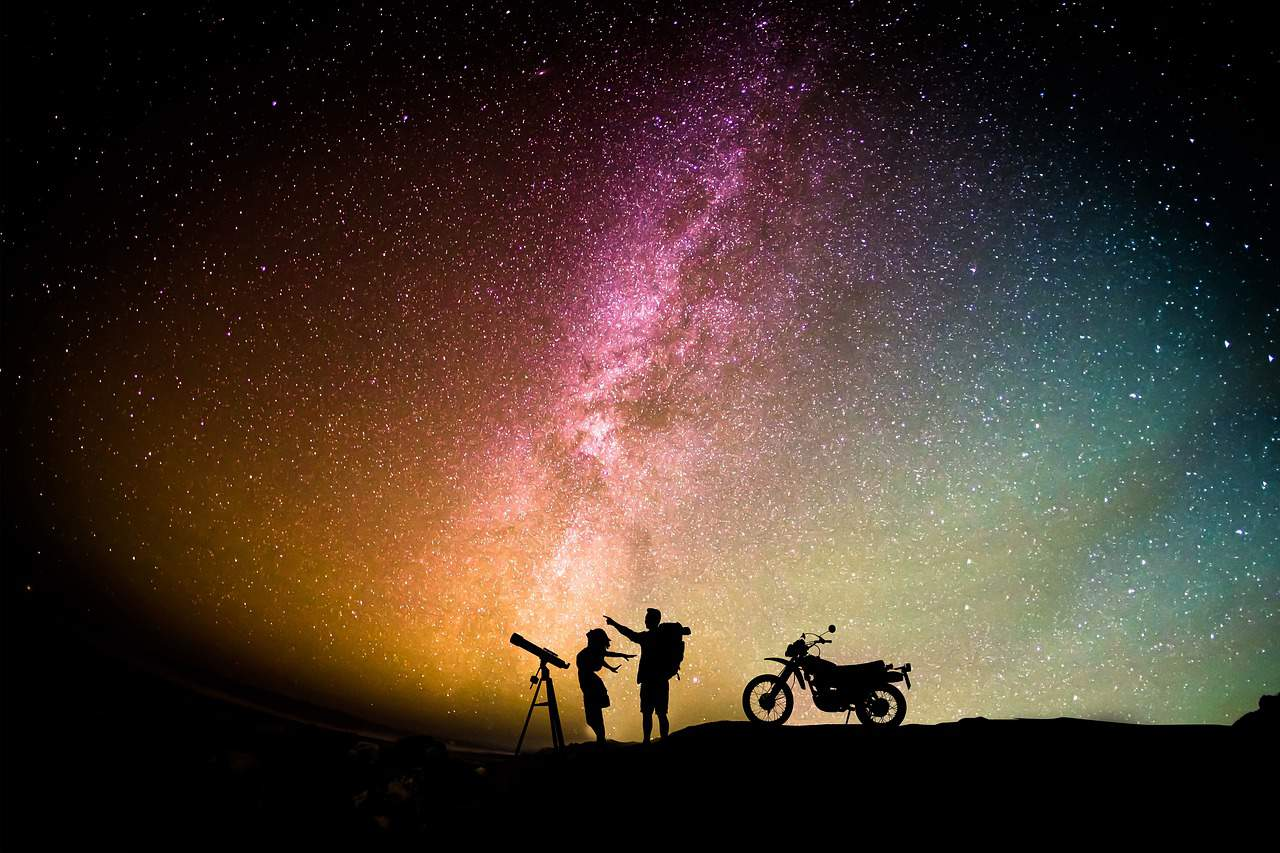 pointing to the stars