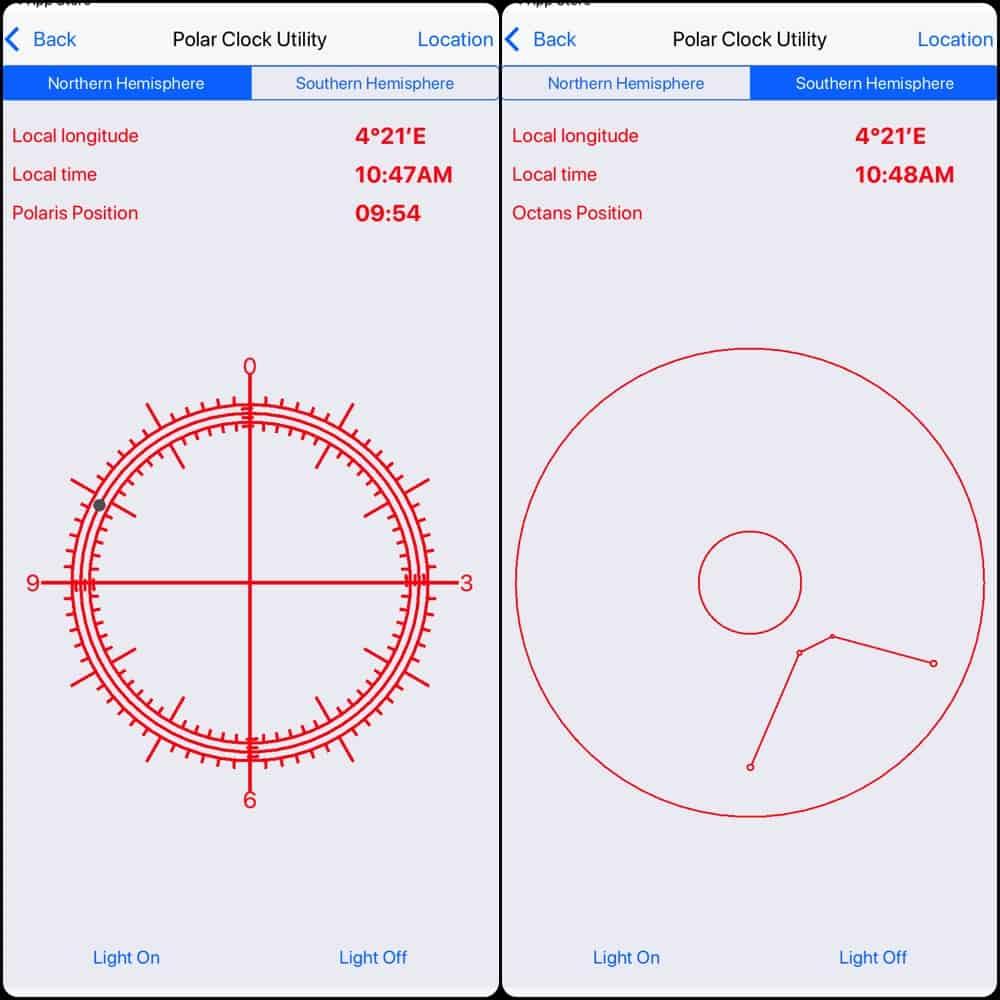 Polar Clock utility screenshot