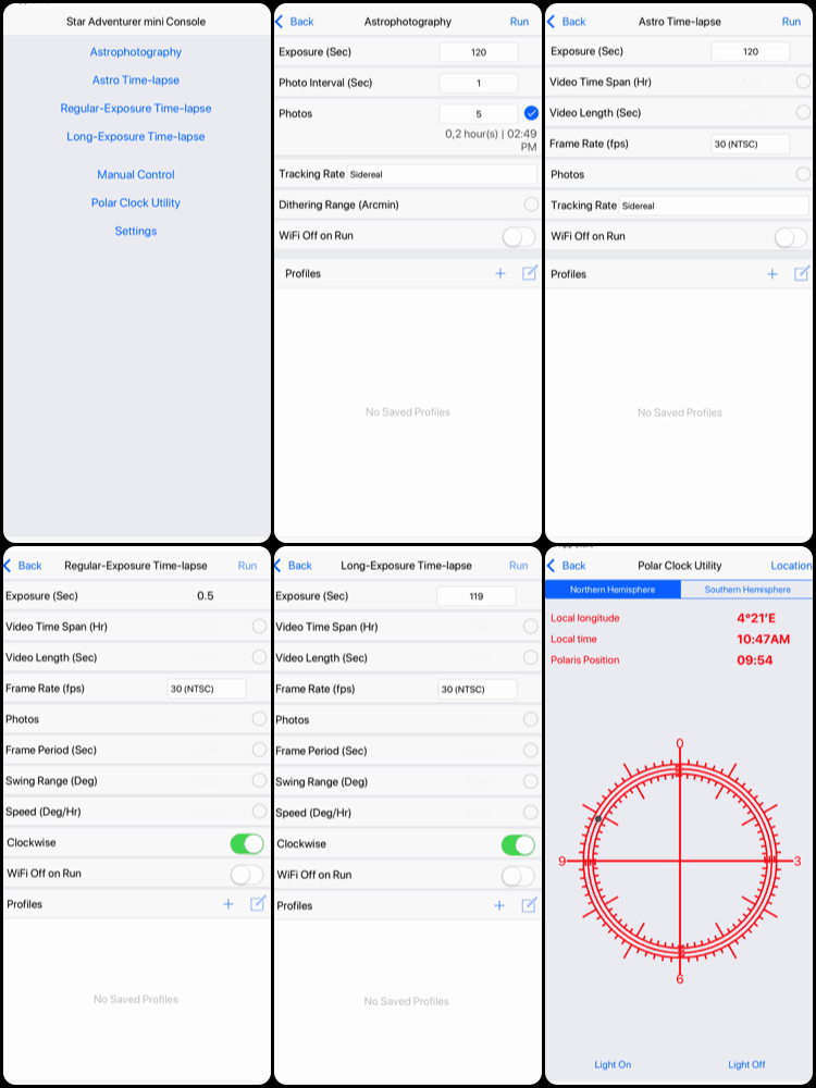 SAM Console app screenshots