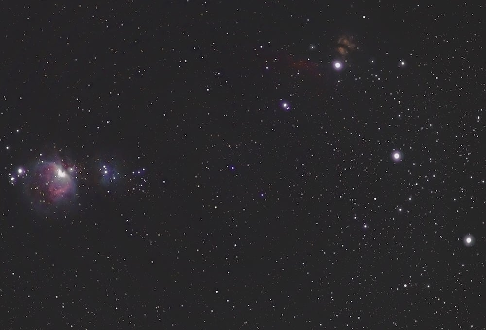 bright stars forming the Orion's belt