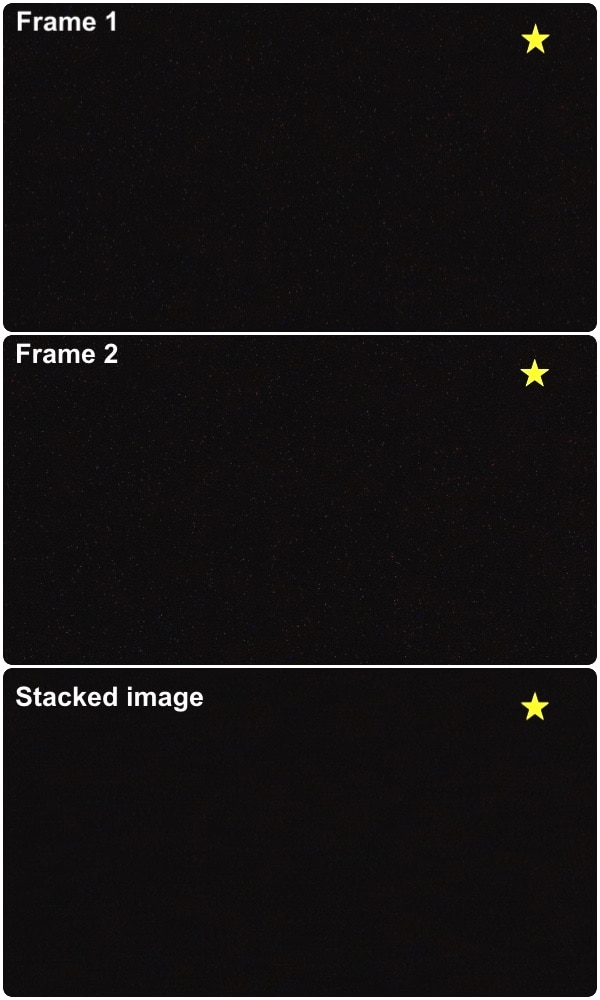 effect of dithering between two frames