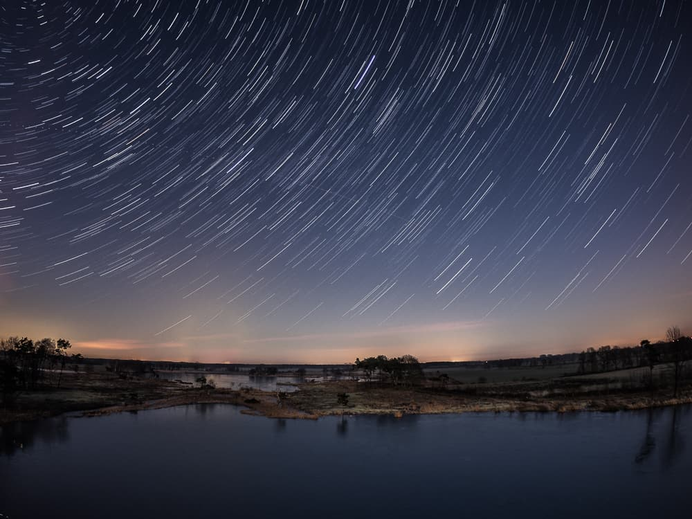 landscape star trail