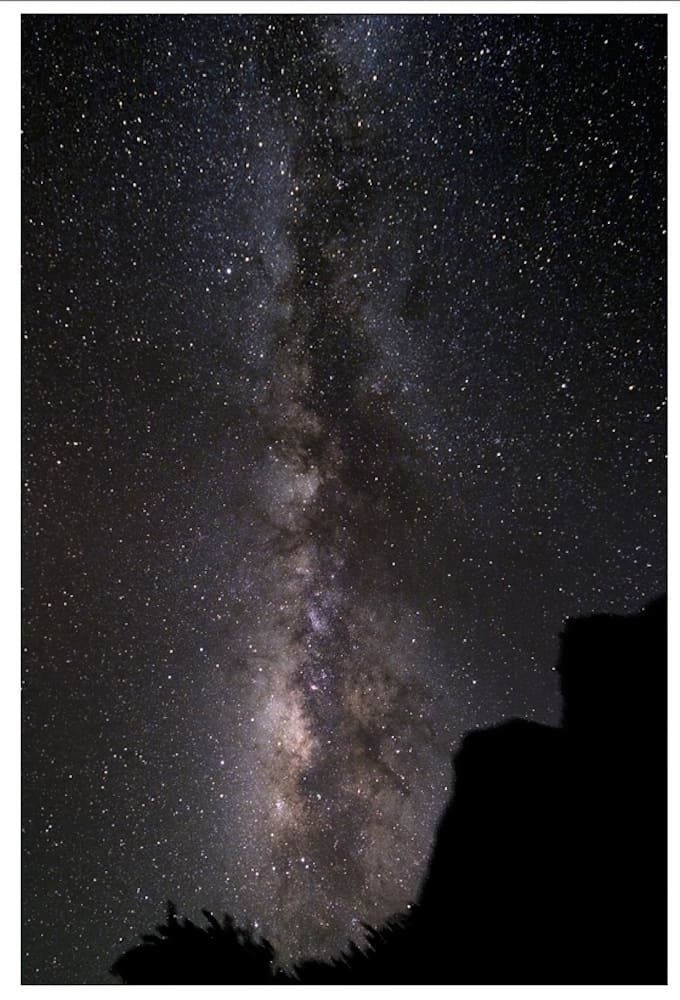 milky way landscape shot with a Polarie