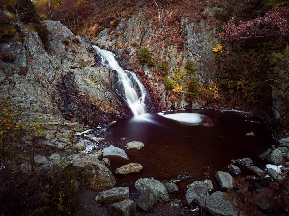 ND filter used to smooth the waterfall image