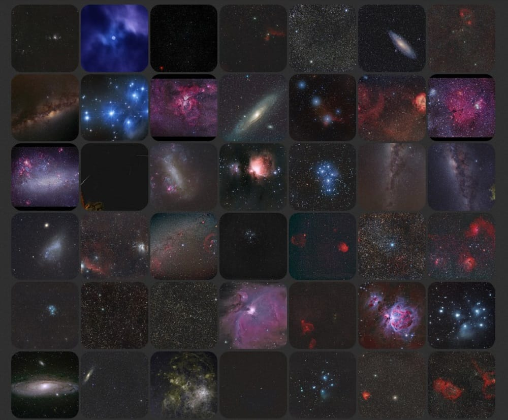 Astrophotography images taken with the SkyWatcher Star Adventurer Pro