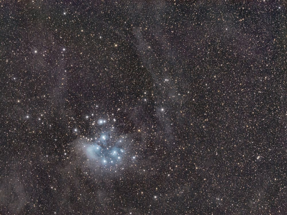 Pleiades Wide Field taken with the Star Adventurer Pro