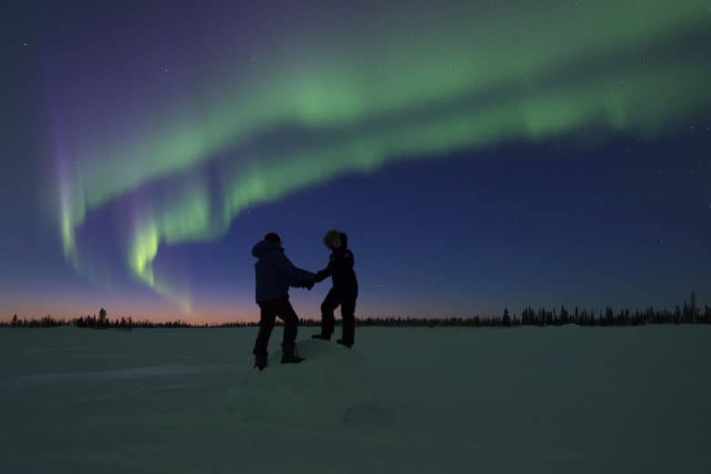 a couple visually see the northernlights