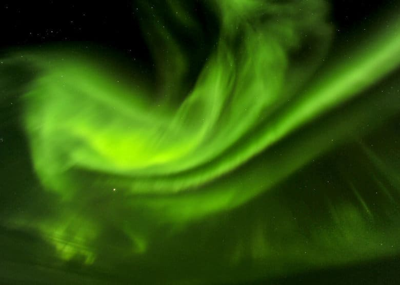 aurora visible green from the color palette