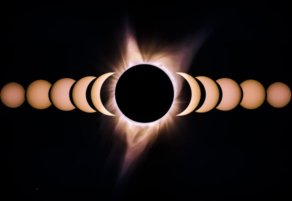 pos processing needed to create a solar eclipse composition