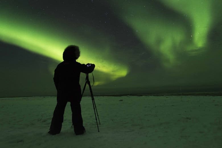 getting camera settings ready for northern lights