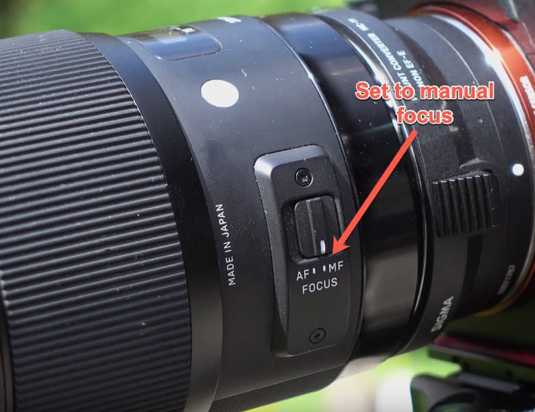 set the manual focus on your lens