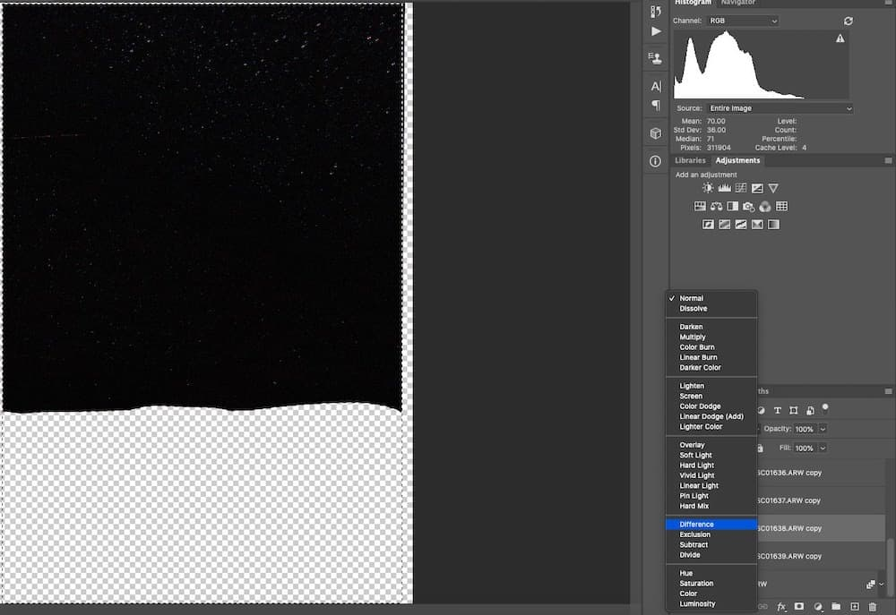 Blending mode in photoshop