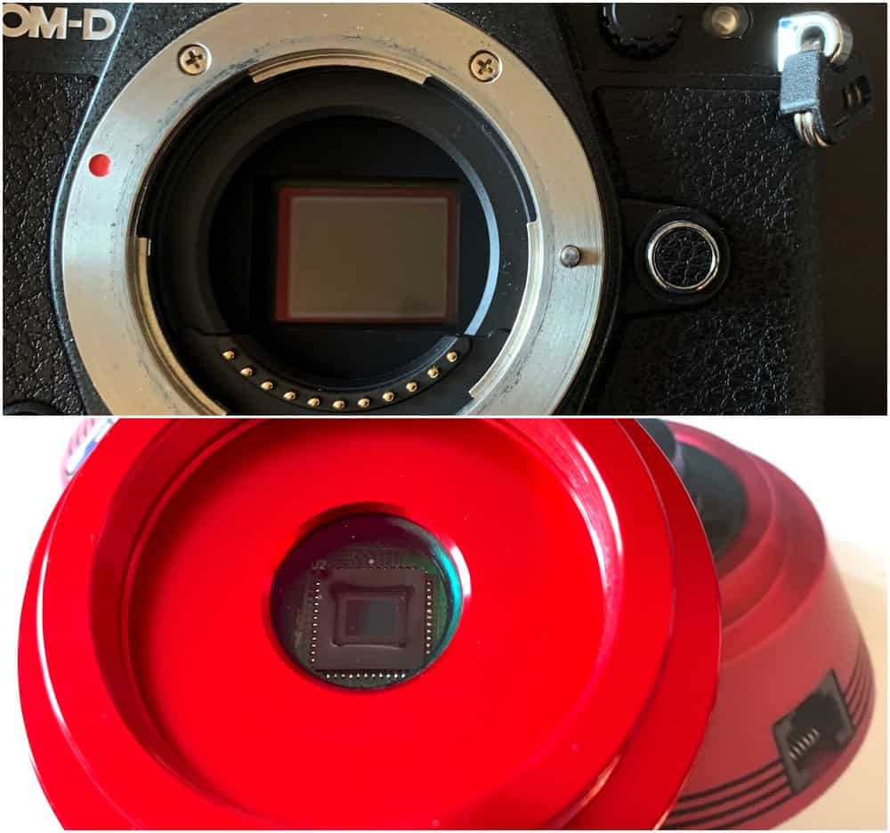 difference in camera sensor size