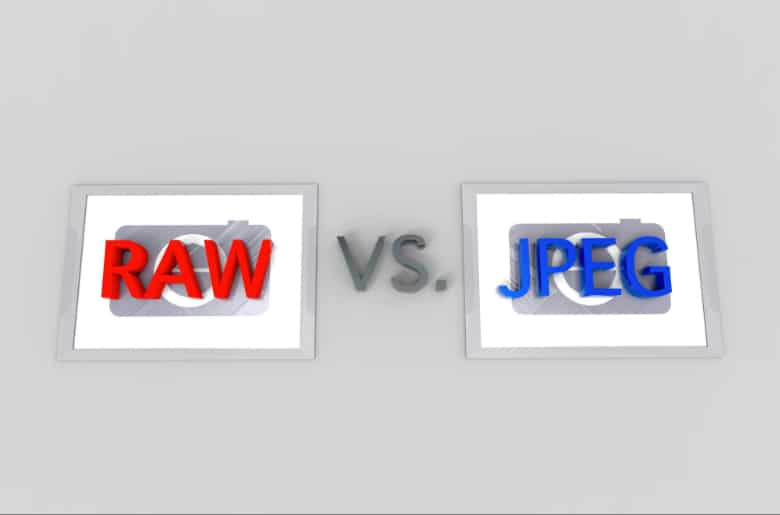 raw vs jpeg image storage