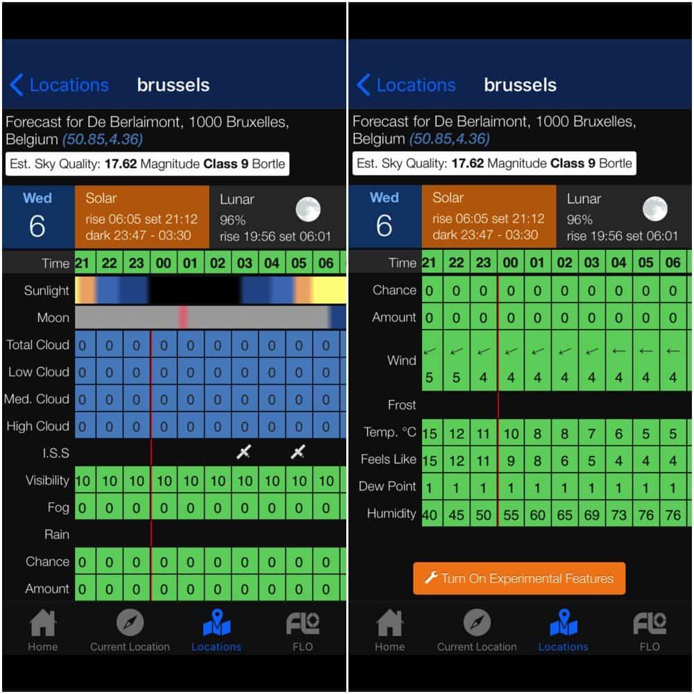 screenshot of Clear Outside app