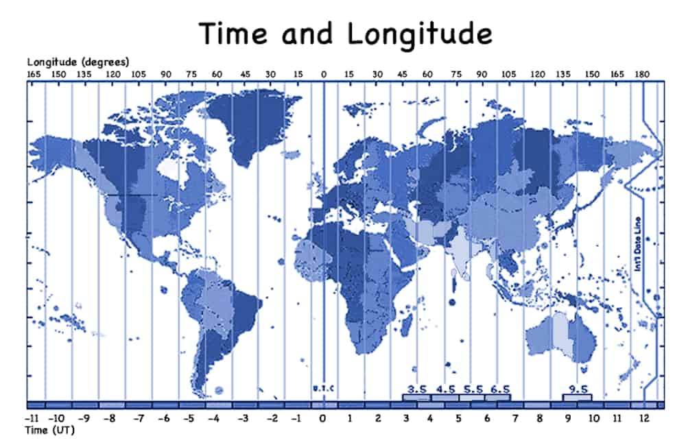 time and longitude world map