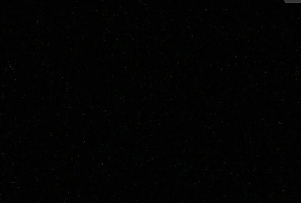 Hot pixels in a dark frame
