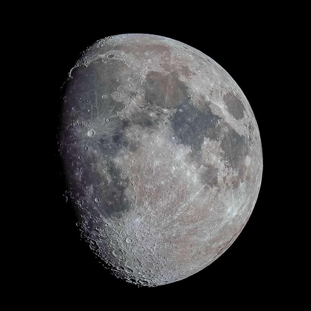 Moon taken using a SkyWatcher Az-GTI alt/az mount