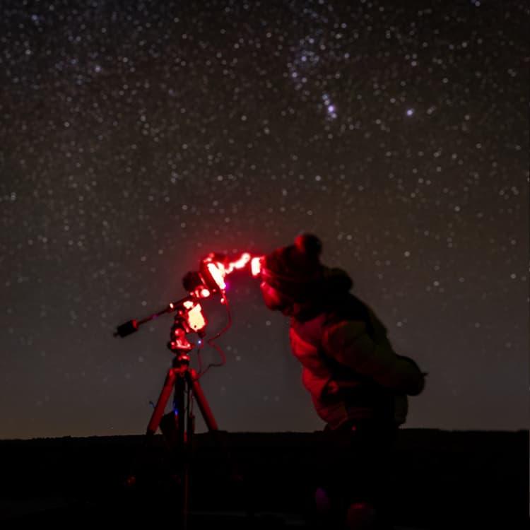 blurry stars under the night sky