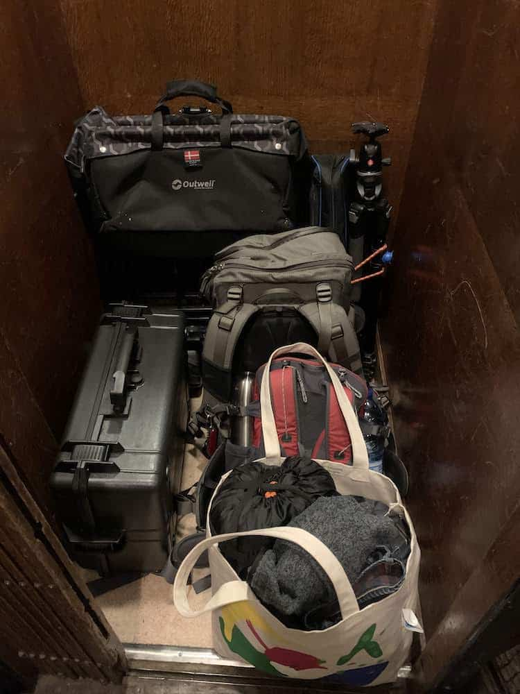 equipment packed and ready