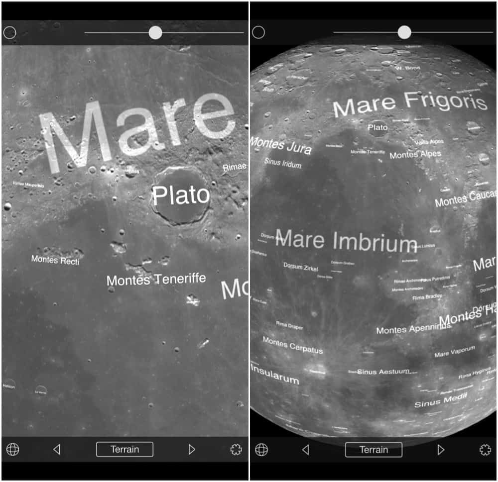 location of Plato on the Moon
