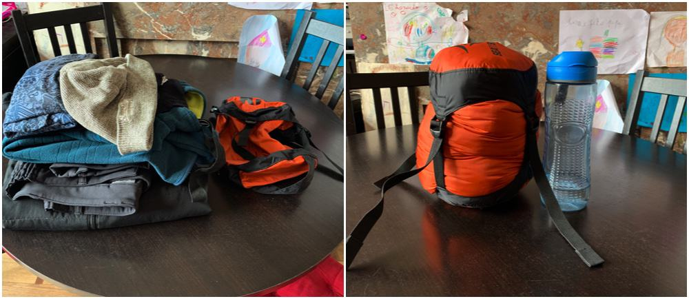 pack all your clothes in a small package