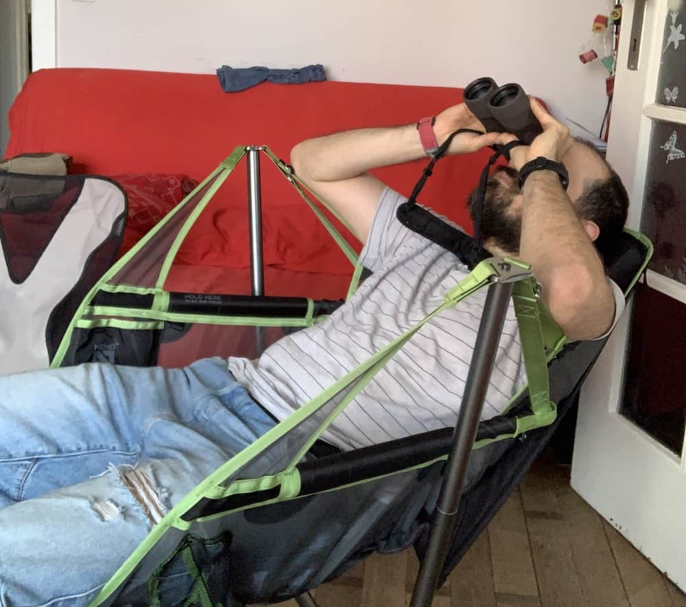 perfect chair to observe the sky with a binocular