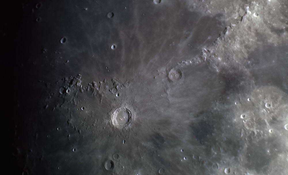 Copernicus Crater with 2x barlow zoom