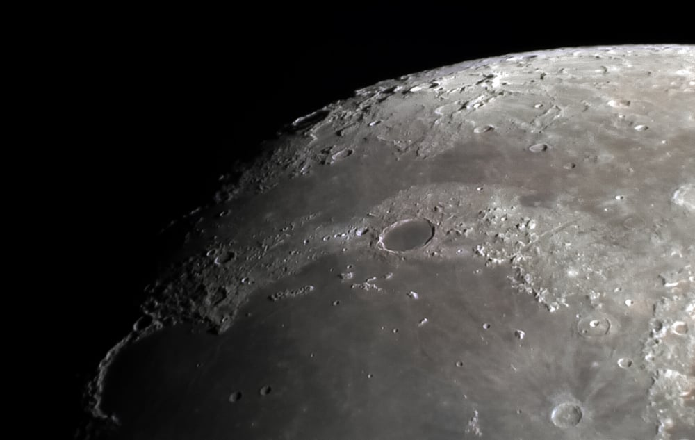 Plato Crater using a OM-D and celestron barlow