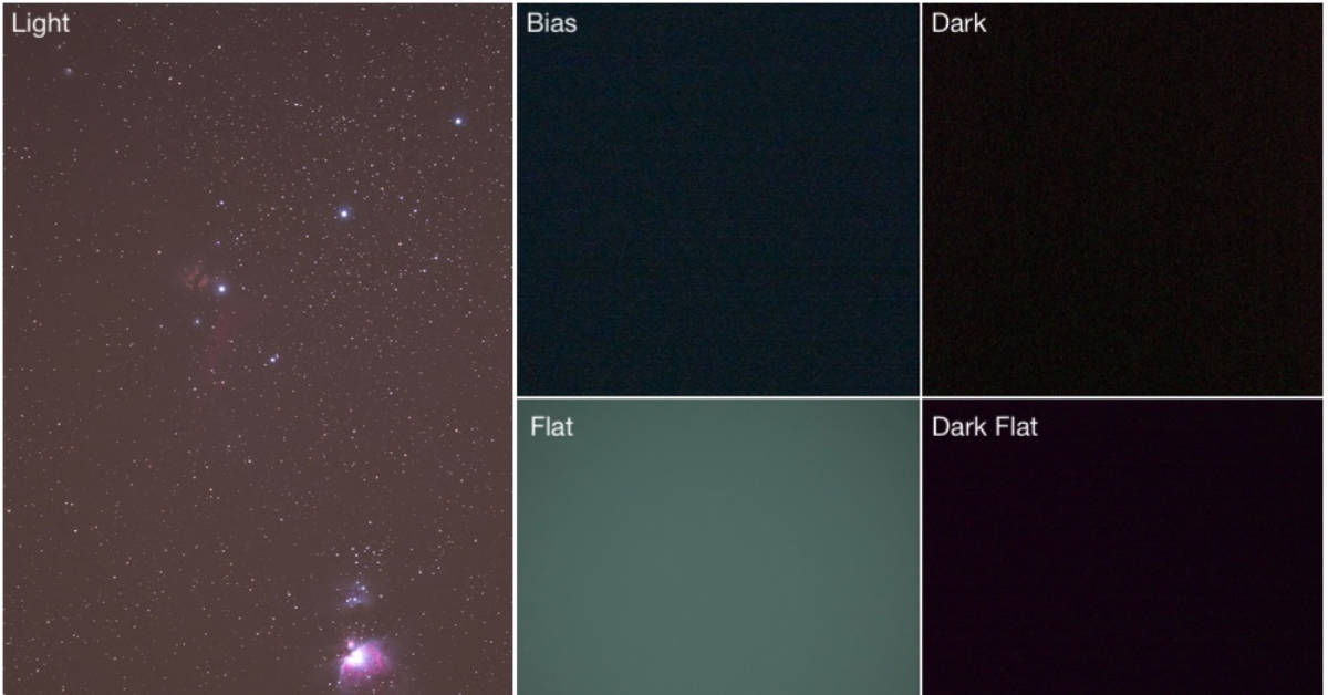 astrophotography calibration frames