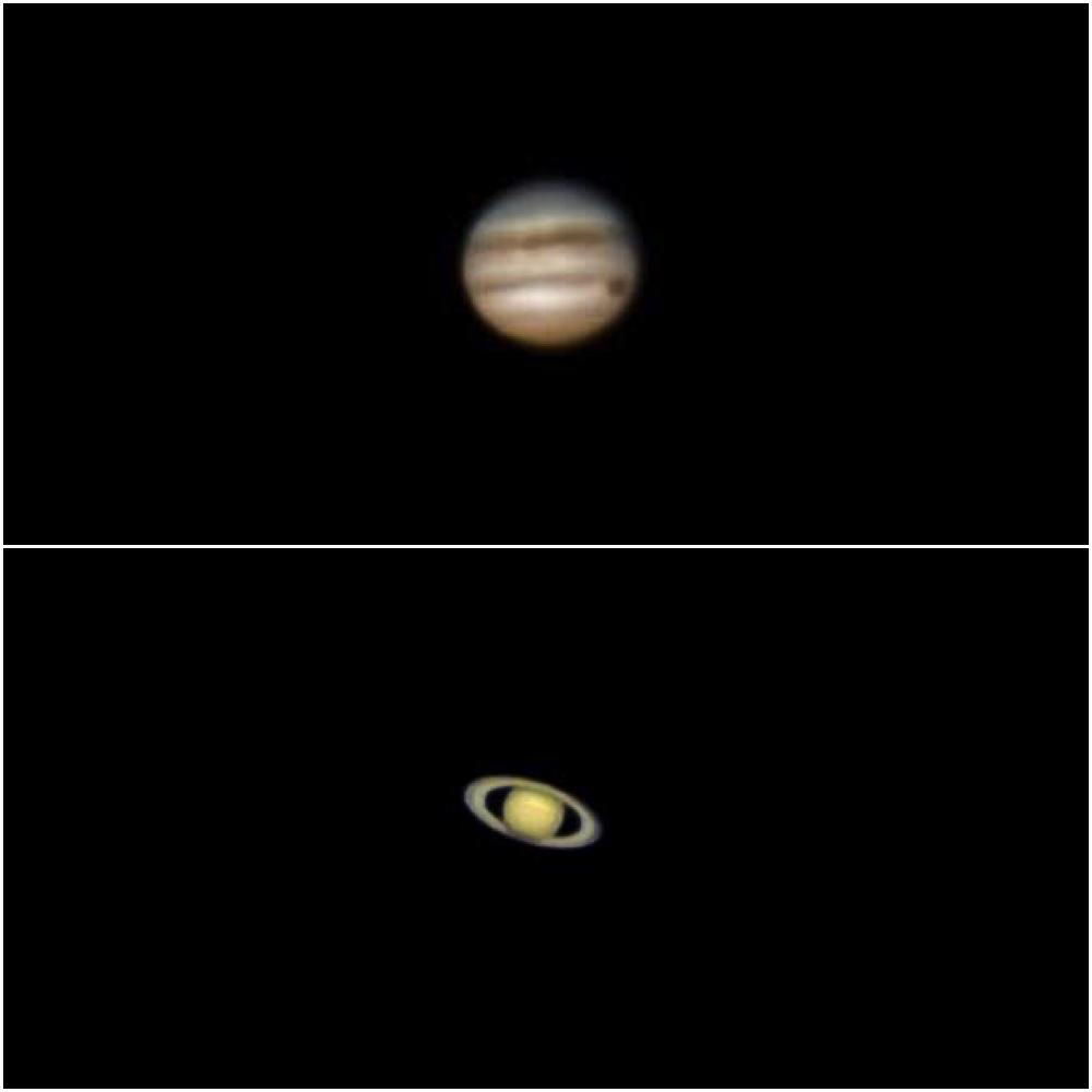 jupiter and saturn images with a 3x barlow