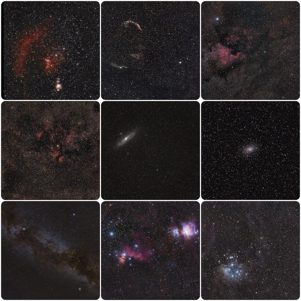 targets framed with a red dot star finder
