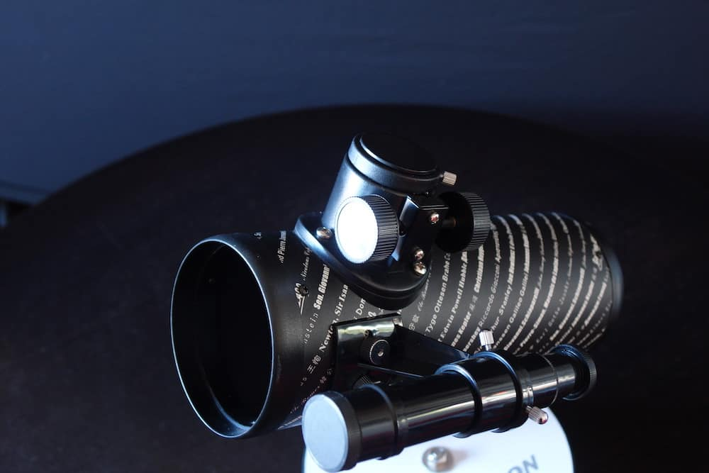 The focuser of the Celestron FirstScope 76:300