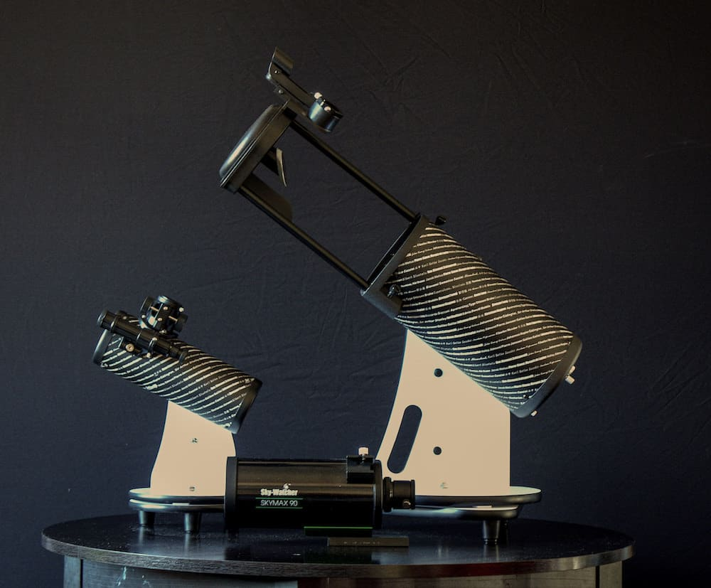 three different types of telescopes