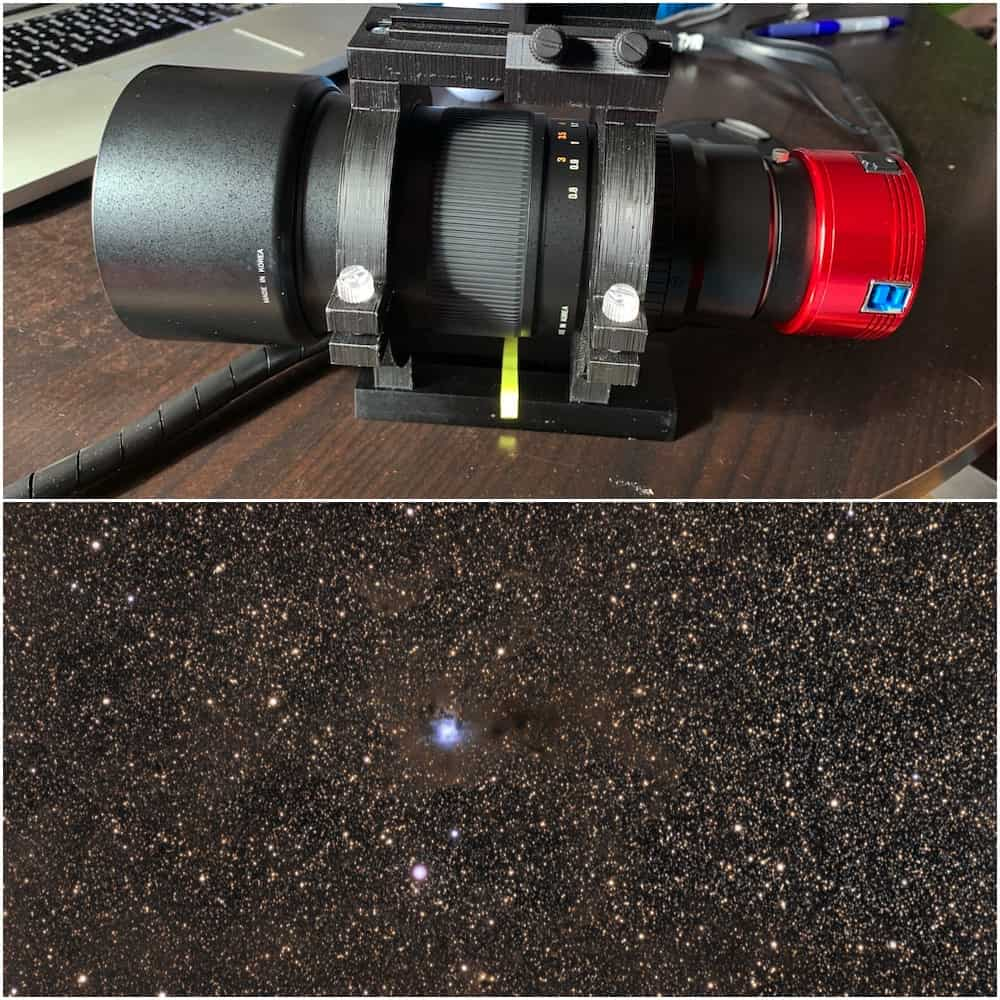 Samyang 135 f:2 is great for doing wide-field astrophotography
