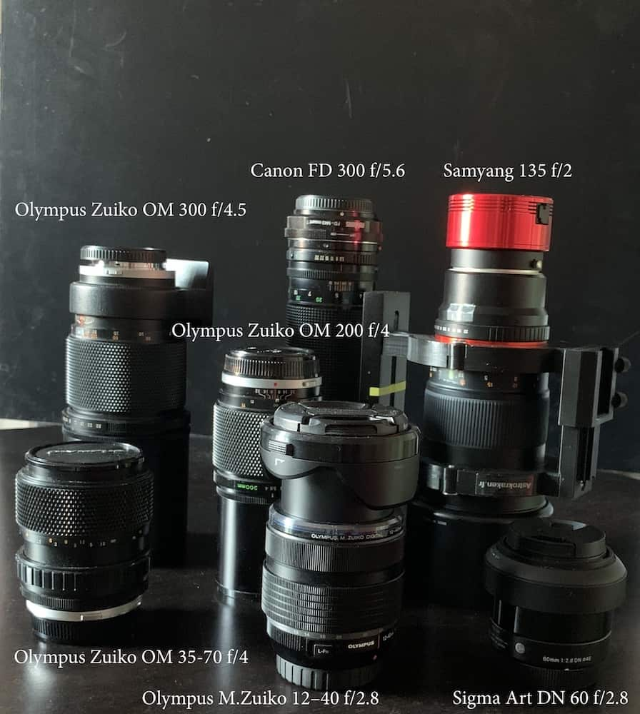 range of Zoom and Prime lenses