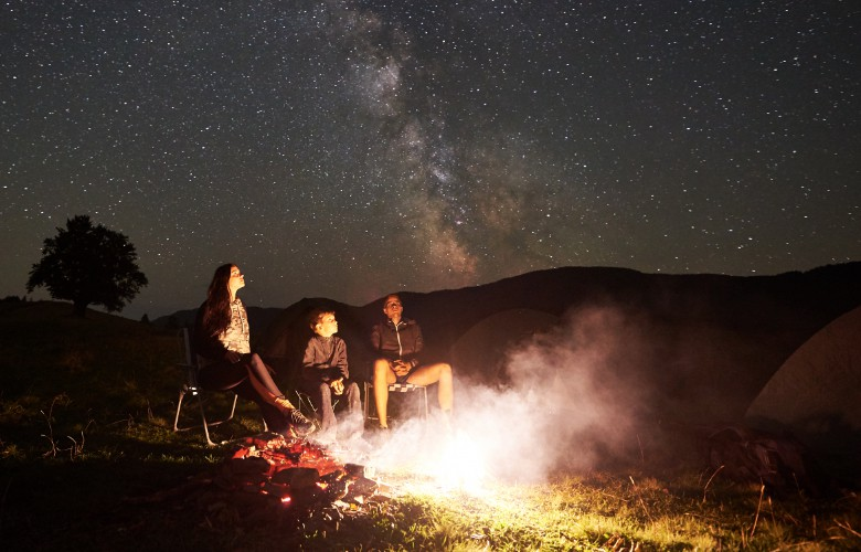 recliner chair to stargaze at the sky and milky way