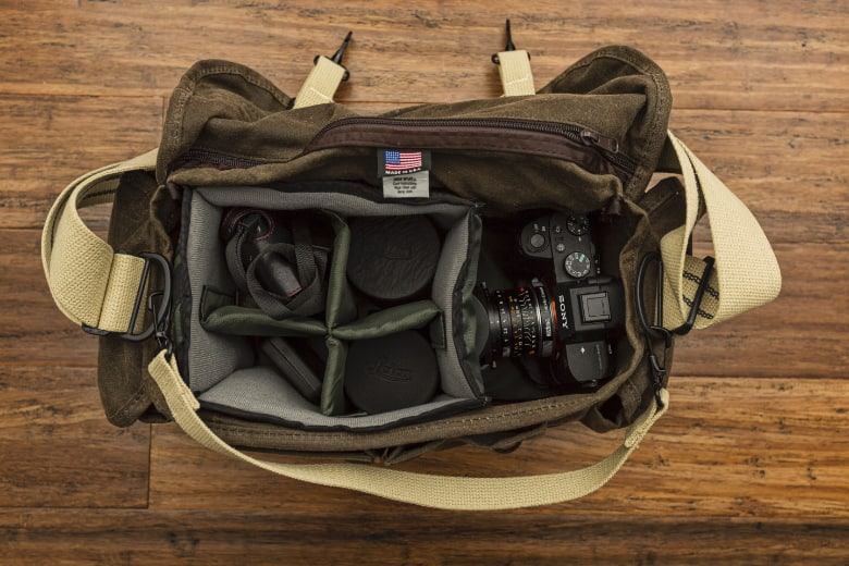 size and capacity of a camera bag