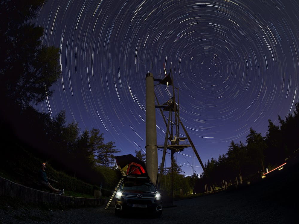 star trails captured as a JPEG