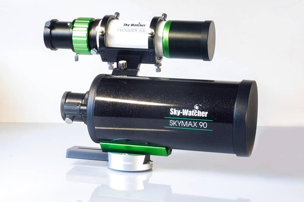 Evoguide on my Sky-Watcher Skymax 90:1250 Maksutov telescope