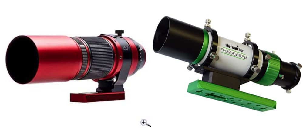William Optics Redcat Z51 compared to the Sky-Watcher Evoguide 50ED