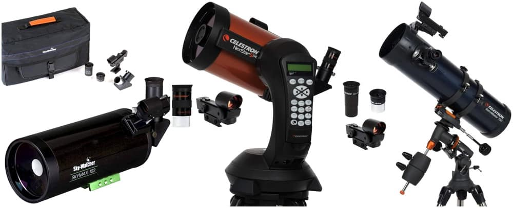 assortment of telescopes