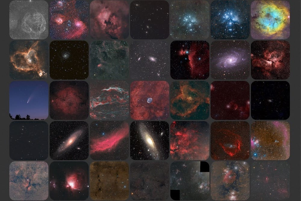astrophotography images taken with the William Optics Redcat