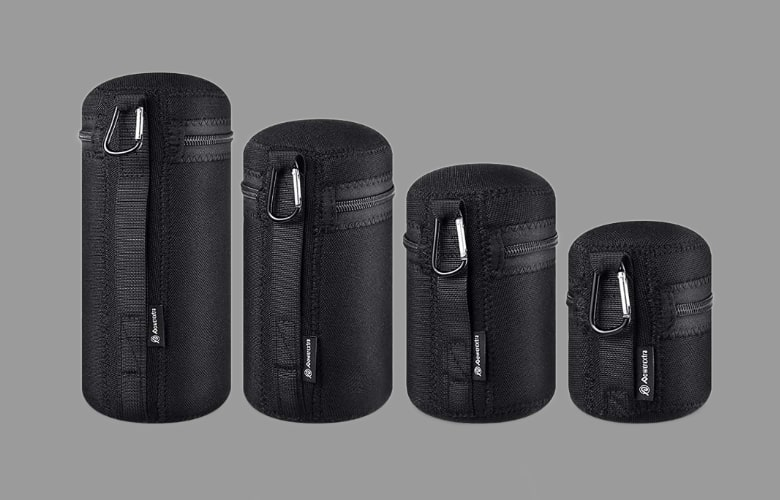 selecting a camera lens pouch