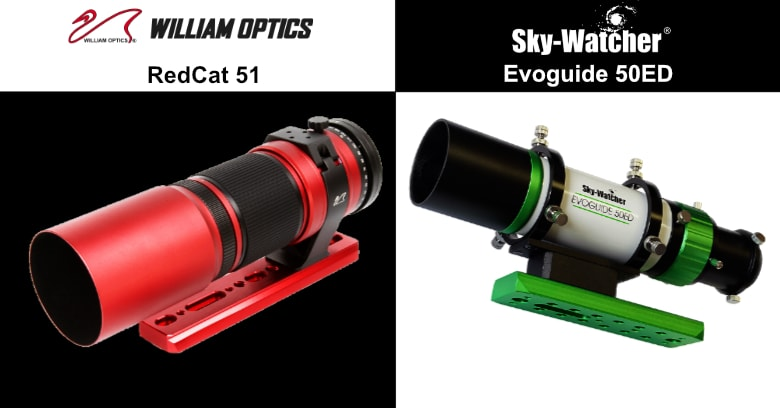 compare the evoguide 50ed to the redcat 51 for wide-field astro imaging