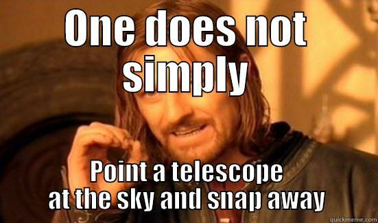 meme about pointing telescope at the sky
