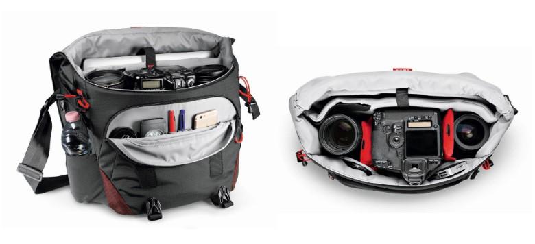 packing your gear inside the shoulder bag