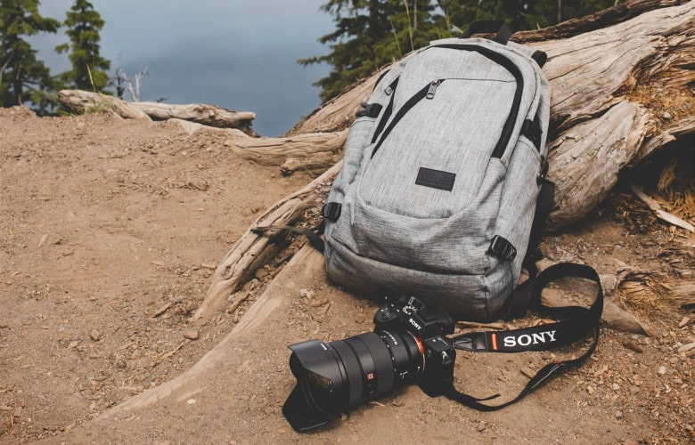 storing your gear in a camera backpack