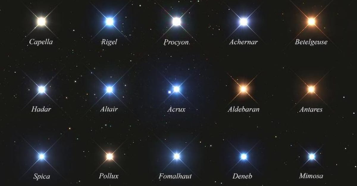 stars and color in the night sky